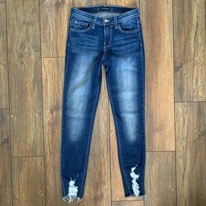 Flying Monkey Skinny Jeans with Distressing
